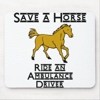 ride an ambulance driver mouse pad