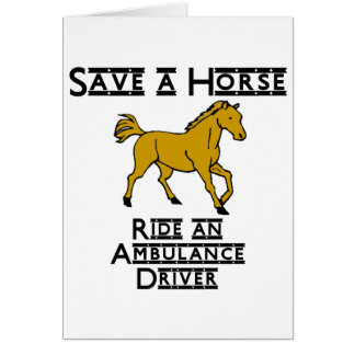 ride an ambulance driver stationery note card