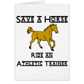 ride an athletic trainer card