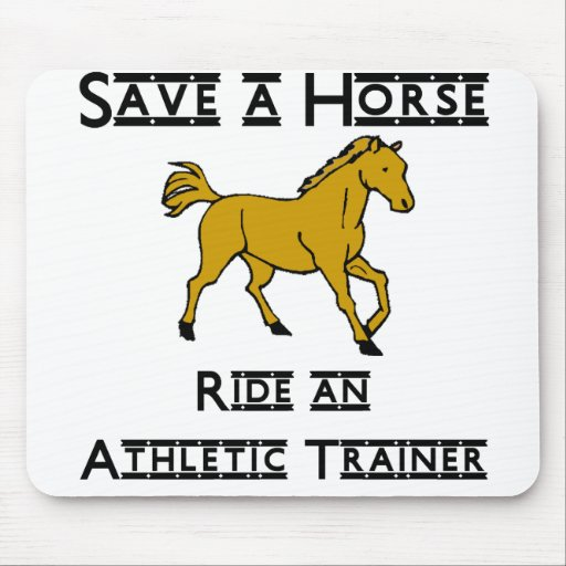 ride an athletic trainer mouse pad