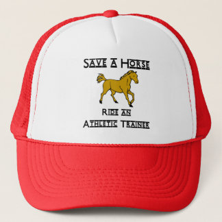 ride an athletic trainer trucker hat