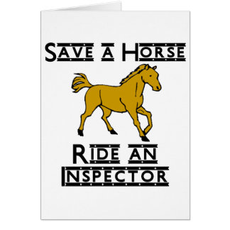 ride an inspector greeting card