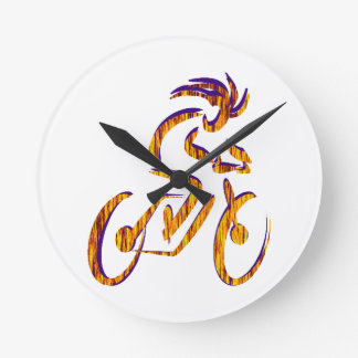 RIDE AND RHYTHM ROUND CLOCK