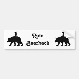 Ride bareback bear bumper sticker