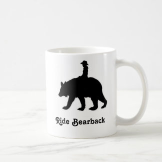 Ride bareback bear coffee mug