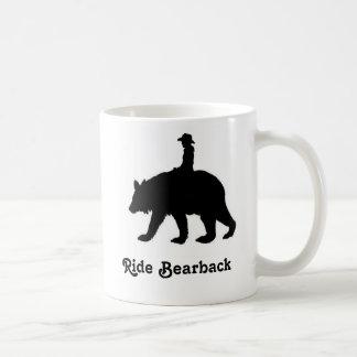 Ride bareback bear coffee mug
