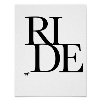 Ride Black and White Graphic Print