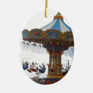 ride ceramic ornament