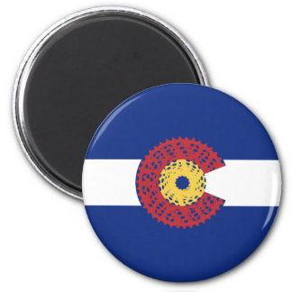 Ride Colorado (Bicycle Cassette) Magnet