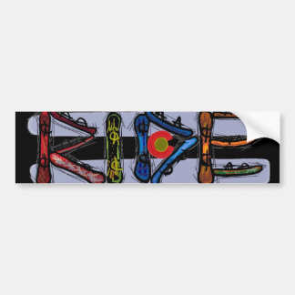 Ride Colorado snowboard bumpersticker Bumper Sticker
