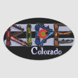 Ride Colorado snowboard stickers