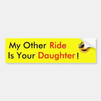 ride daughters. car bumper sticker