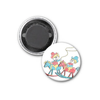 Ride Em Cowboy 1 Inch Round Magnet
