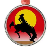 Ride 'em Cowboy Metal Ornament