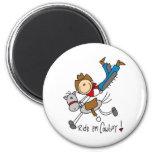Ride 'Em Cowboy Stick Figure Magnet Fridge Magnets
