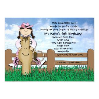 Ride 'em Cowgirl Braided Invitation