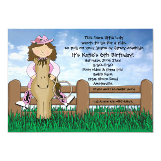 Ride 'em Cowgirl Invitation