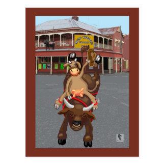 Ride em cowgirl postcard