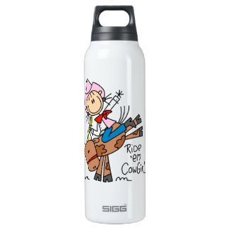 Ride Em Cowgirl T-shirts and 16 Oz Insulated SIGG Thermos Water Bottle