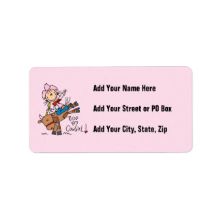 Ride Em Cowgirl T-shirts and Gifts Address Label