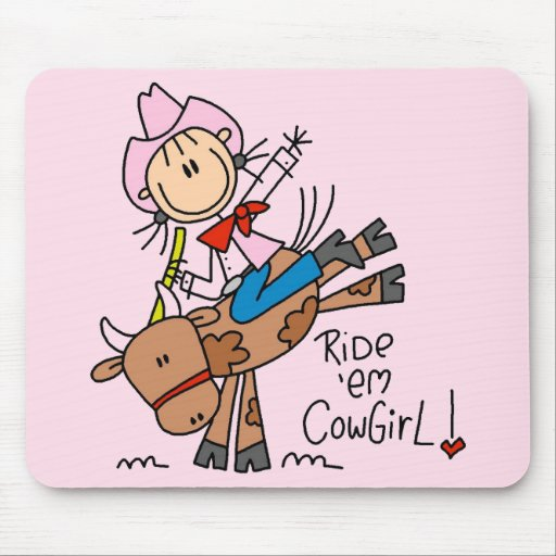 Ride Em Cowgirl T-shirts and Gifts Mouse Pad