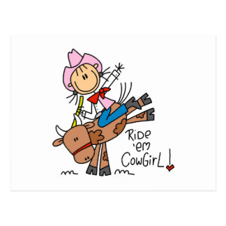Ride Em Cowgirl T-shirts and Gifts Postcard