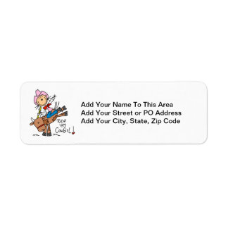 Ride Em Cowgirl T-shirts and Gifts Return Address Label