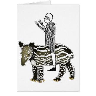 Ride em' tapir card