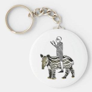 Ride em' tapir keychain