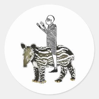 Ride em' tapir stickers