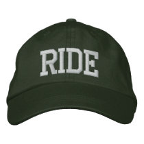 RIDE EMBROIDERED BASEBALL HAT