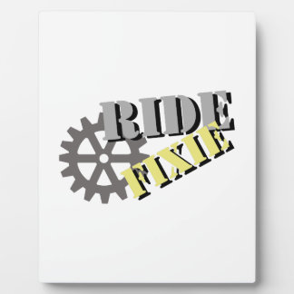 Ride Fixie Plaque