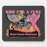 Ride For a Cure - Breast Cancer Mousepad
