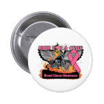 Ride For a Cure - Breast Cancer Pinback Button