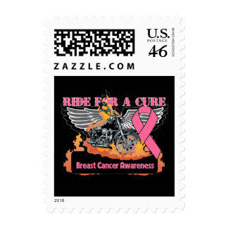 Ride For a Cure - Breast Cancer Postage Stamps