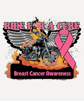 Ride For a Cure - Breast Cancer T Shirts