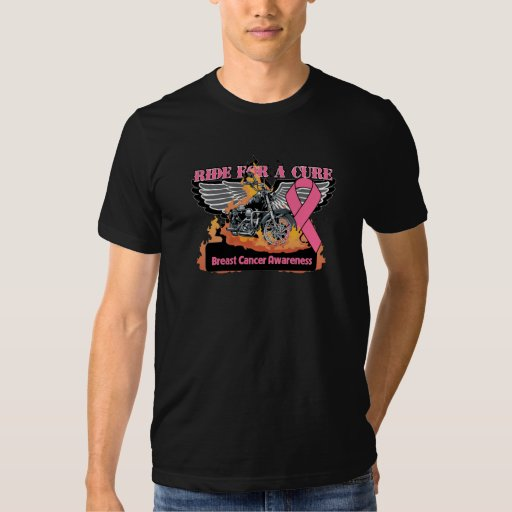Ride For a Cure - Breast Cancer Tshirts