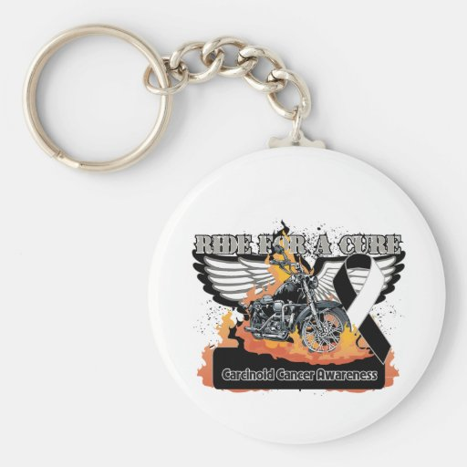 Ride For a Cure - Carcinoid Cancer Keychain