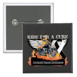Ride For a Cure - Carcinoid Cancer Pinback Buttons