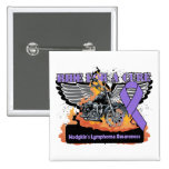 Ride For a Cure - Hodgkins Lymphoma Pinback Button