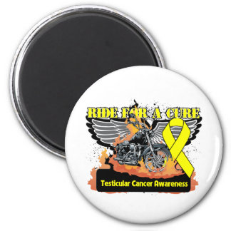 Ride For a Cure - Testicular Cancer 2 Inch Round Magnet