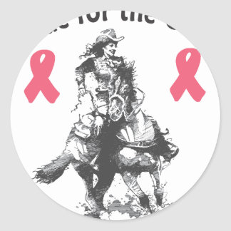 Ride For the Cure - Western Horse Classic Round Sticker