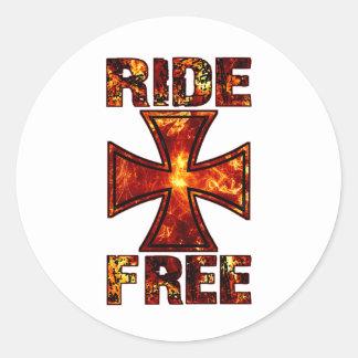 Ride Free 001 Classic Round Sticker