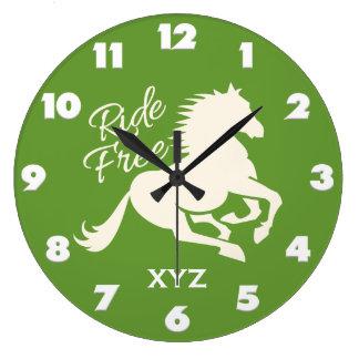 Ride Free custom color & monogram wall clocks