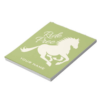 Ride Free custom color notepad