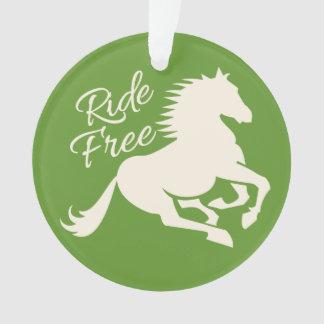 Ride Free custom color ornament