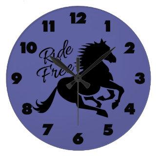 Ride Free custom color wall clocks