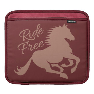 Ride Free custom iPad sleeve