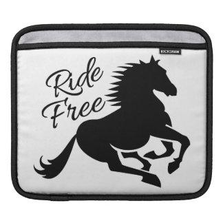Ride Free custom iPad sleeve