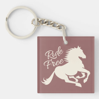 Ride Free custom key chain